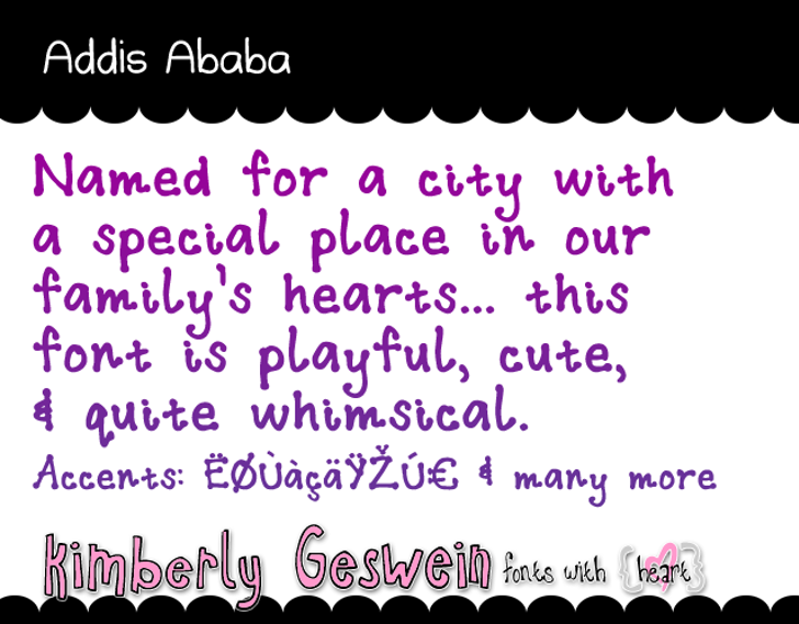 Addis Ababa Font font text