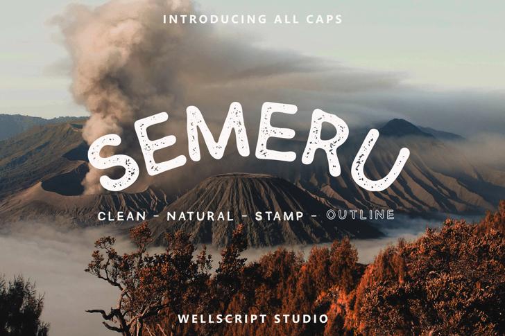 SEMERU Stamp Font poster