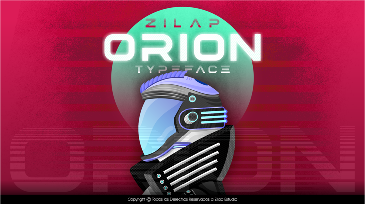 Zilap Orion Personal Use Font poster cartoon