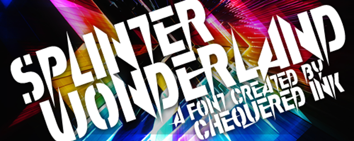 Splinter Wonderland Font poster design