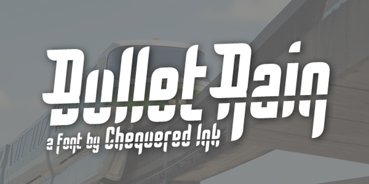 Bullet Rain Font design screenshot