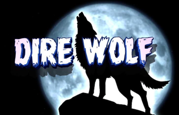 Dire Wolf Font cartoon poster
