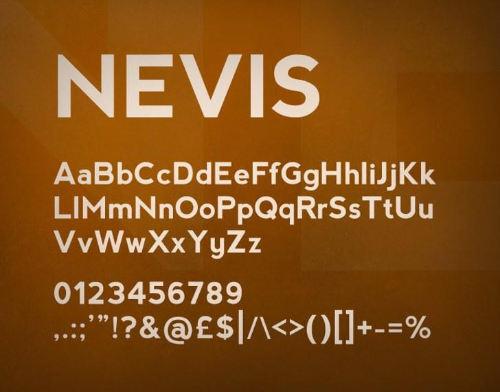 nevis Font screenshot text