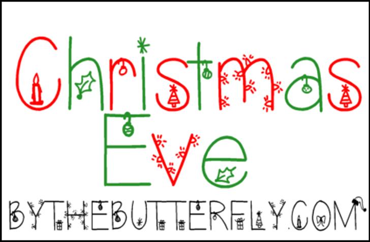 ChristmasEve Font design graphic
