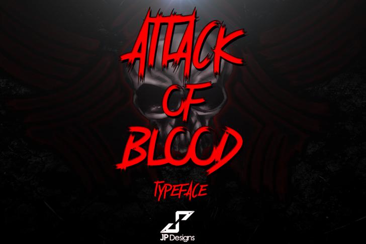 Attack of Blood Font design