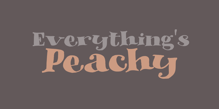 DK Phantom Peach Font design typography
