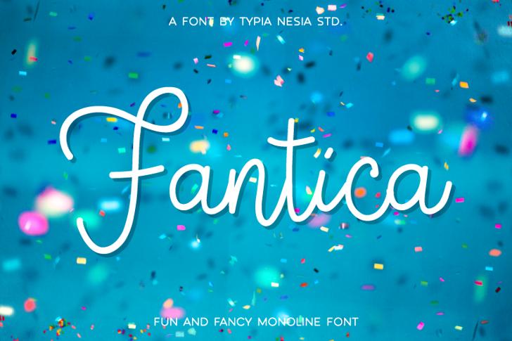 Fantica Demo Font christmas tree design
