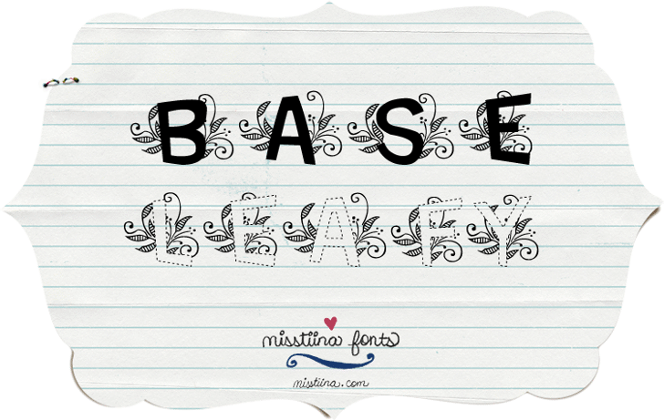 MTF Base Leafy Font handwriting drawing