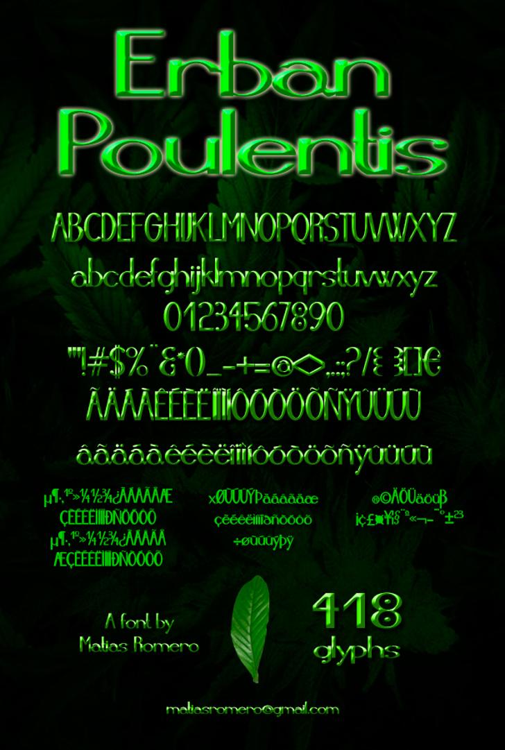 Erban Poulentis Font screenshot text