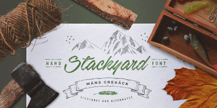 Stackyard PERSONAL USE Font handwriting drawing