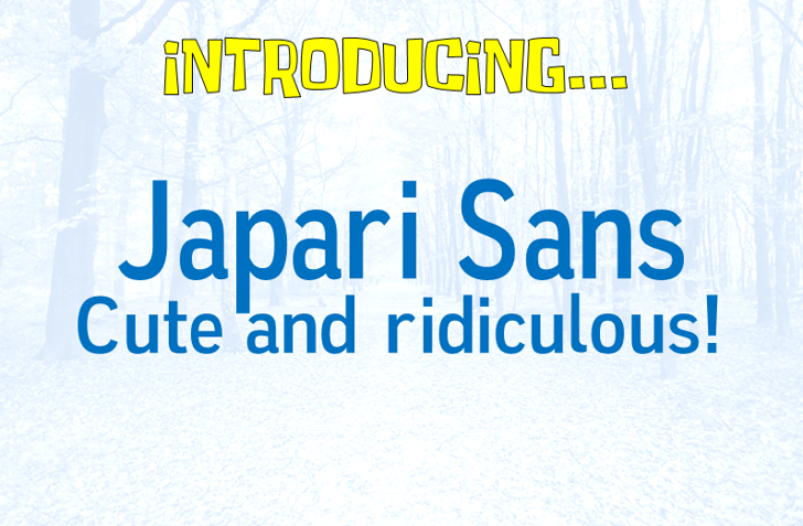Japari Sans Font screenshot design