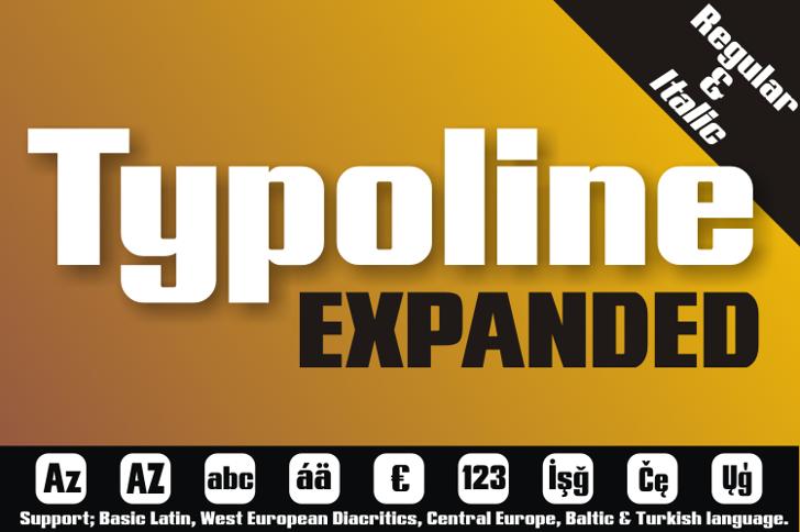 Typoline Expanded Font screenshot design