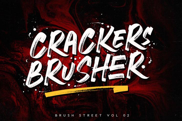 CRACKERS BRUSHER Font poster