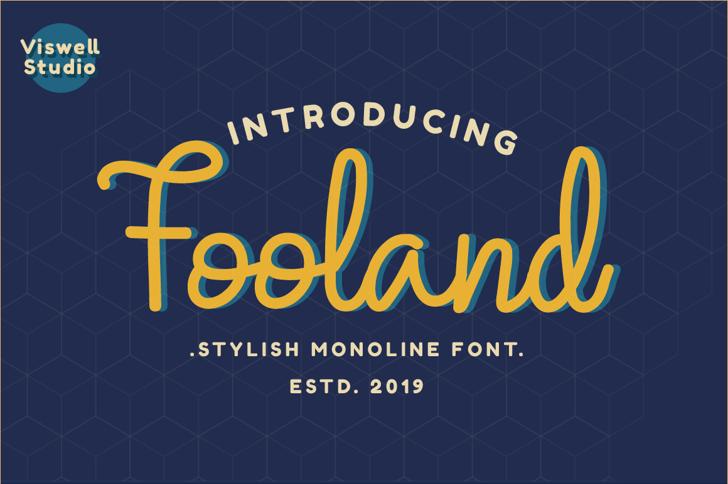 Fooland Font poster