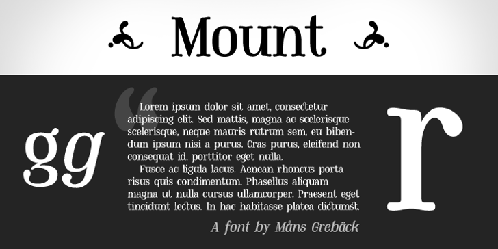 Mount PERSONAL USE ONLY Font text screenshot