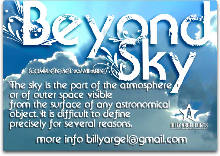 Beyond Sky Font text screenshot