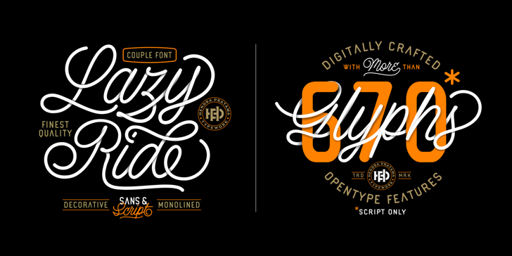 Lazy Ride Personal Use Font design typography