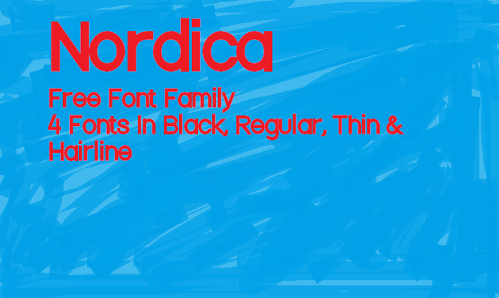 Nordica Font screenshot aqua