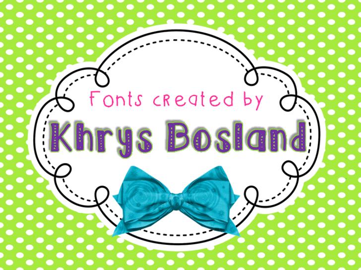 KBhearmeplay Font cartoon vector graphics