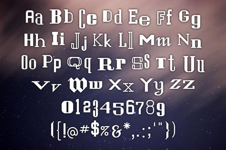 Sanfrisco Font poster