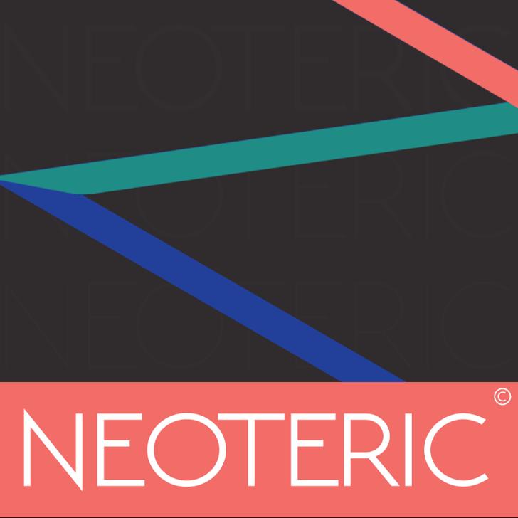 NEOTERIC Font screenshot design
