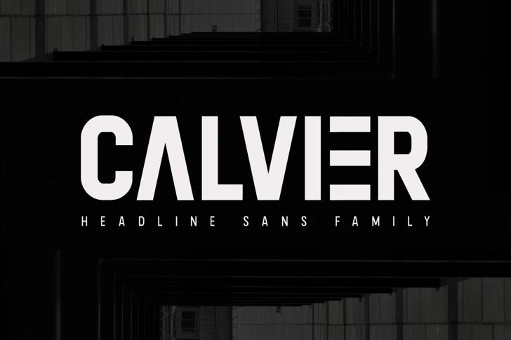 Calvier Font screenshot sign