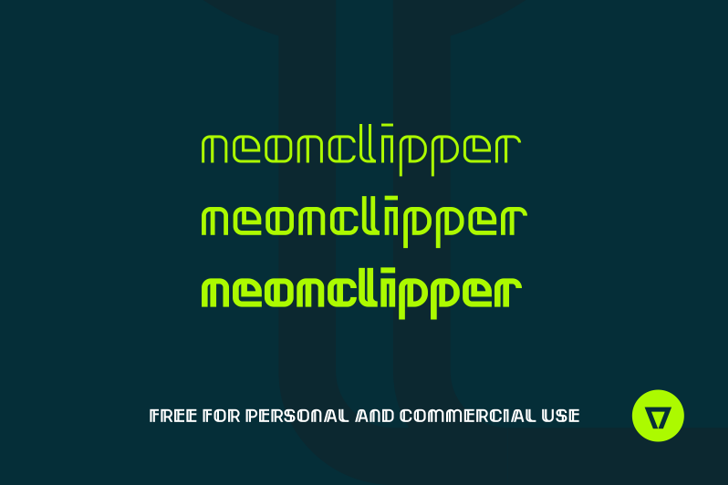 Neonclipper Font screenshot design