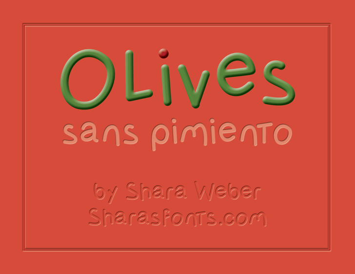 OlivessansPimiento Font screenshot font