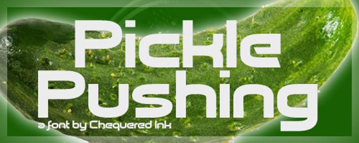 Pickle Pushing Font screenshot tableware