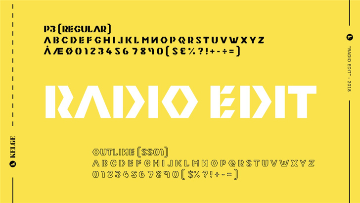 Radio Edit Font design font