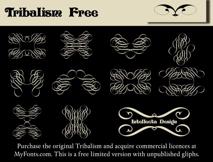 Tribalism Free Font drawing text