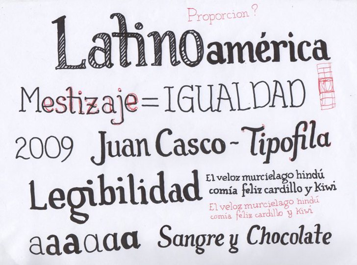 Tipófila Font text handwriting