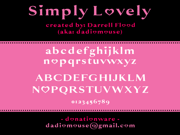 Simply Lovely Font text design