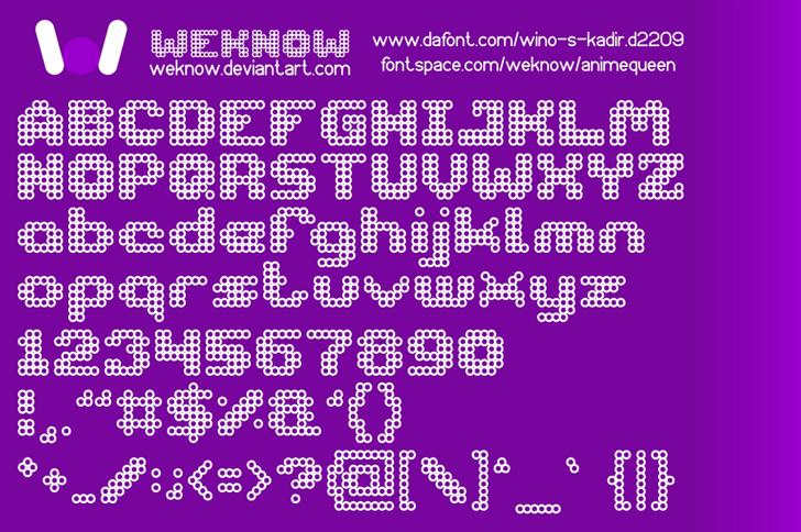 animequeen Font magenta screenshot