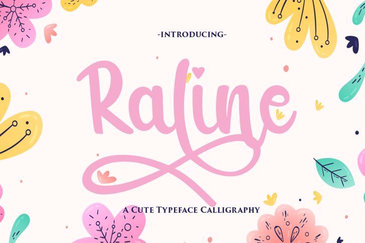 Raline Font poster