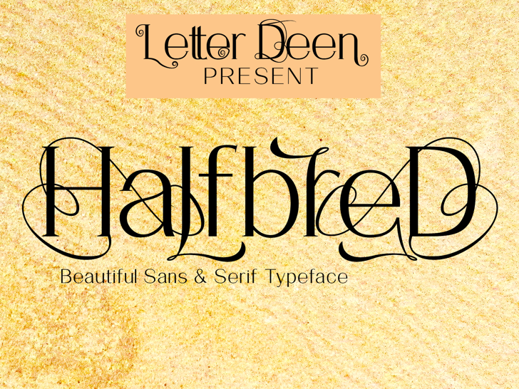 HalfbreD Font poster