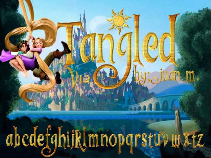 Tangled v1.2 Font poster cartoon