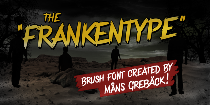 Frankentype Personal Use Only Font screenshot cartoon