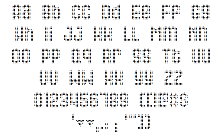 Queer Font Letters Charmap