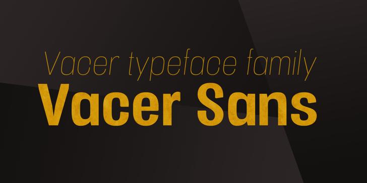 Vacer Sans Personal Font screenshot design