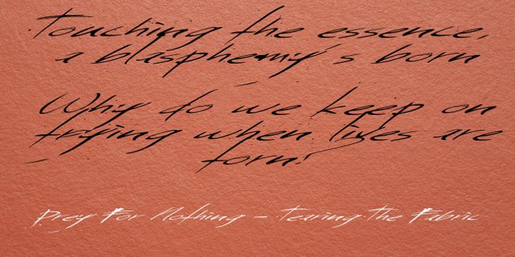 Saturday Sunday Monday Font handwriting letter