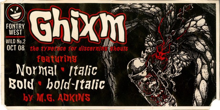 WILD2 Ghixm NC Font poster text