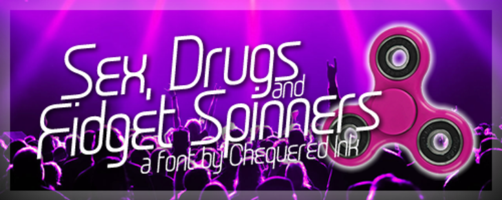Sex Drugs And Fidget Spinners Font magenta violet