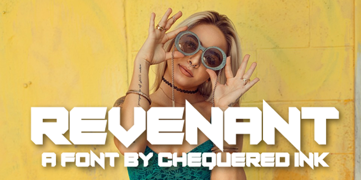 Revenant Font human face sunglasses