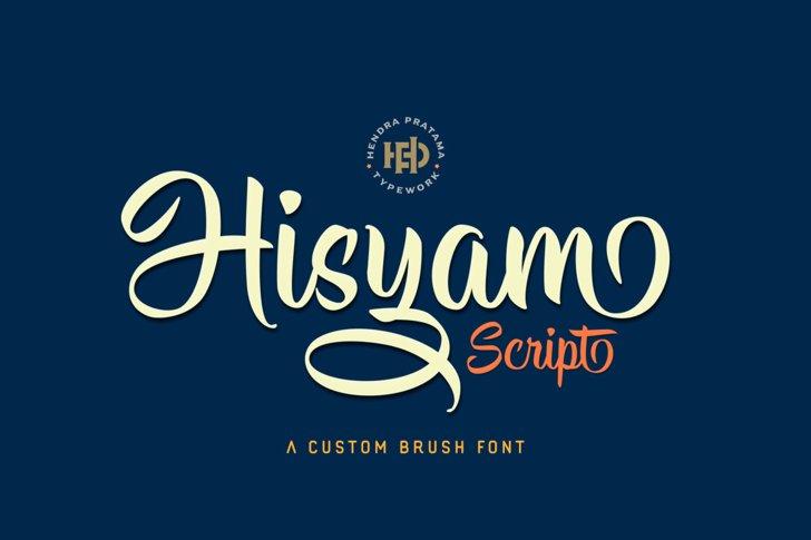 Hisyam Script Personal Use Font design typography