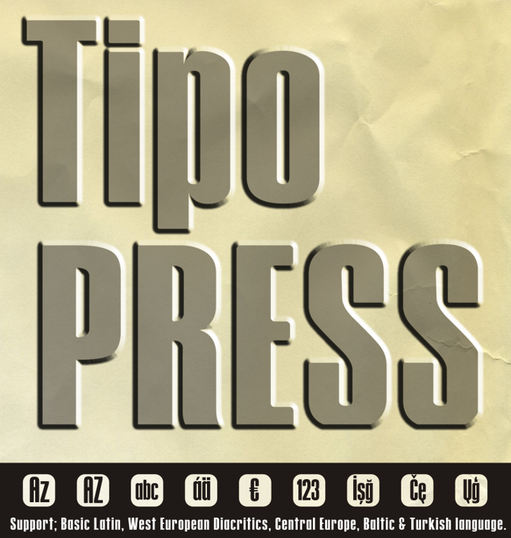 Tipo PRESS Font poster typography