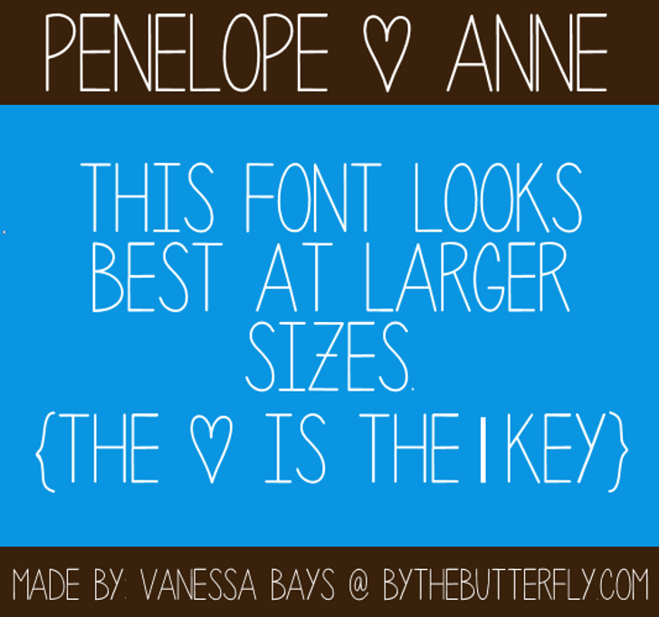 Penelope Anne Font screenshot design