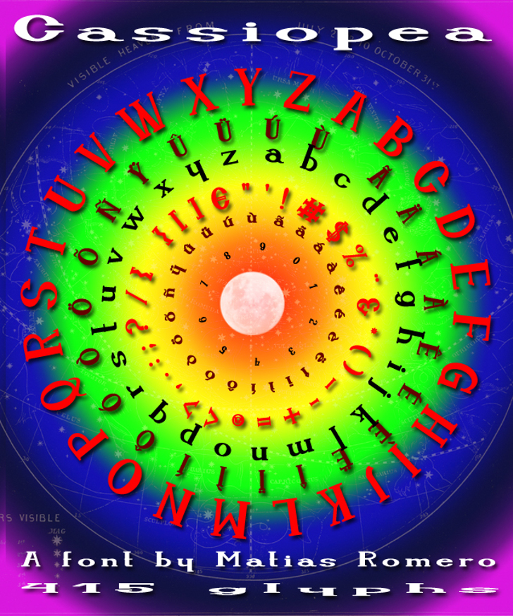 Cassiopea Font circle