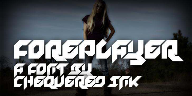 Foreplayer Font screenshot poster