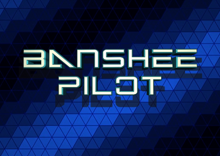 Banshee Pilot Font screenshot electric blue